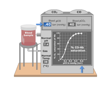 The featured image demonstrating hemoglobin is directly related to the plasma partial pressure of CO