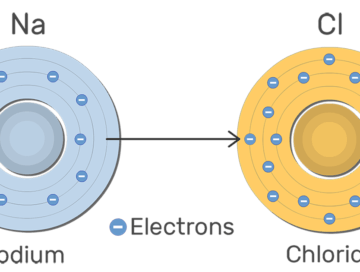 An image showing Na and Cl ions with their electrons