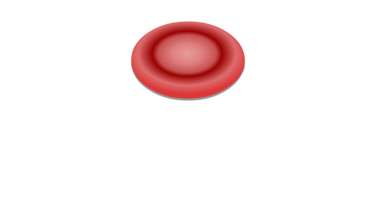Unlabelled image of a red blood cells
