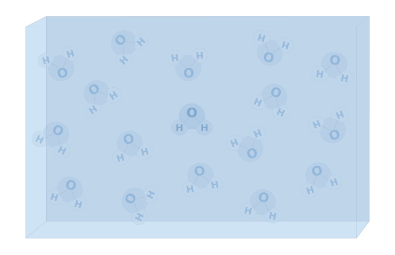 An image showing water molecules