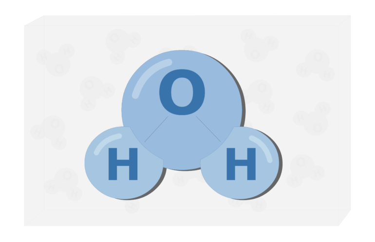 An image showing enlarged water molecule
