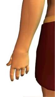 Slide 3 of the animation of finger extension.