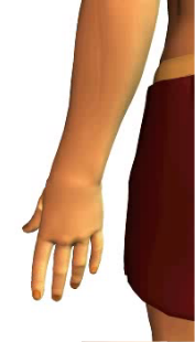 Slide 5 of the animation of finger extension.
